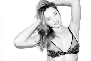 Miranda Kerr posing in a bra
