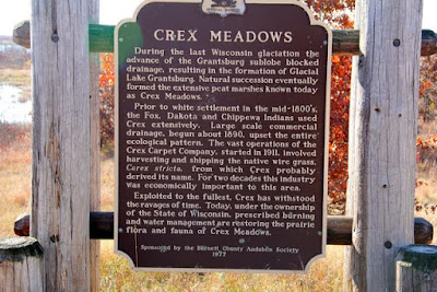 Crex Meadows plaque
