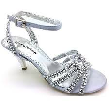 Low Heel Selected Silver Prom Shoes Trend | bridal and wedding gowns