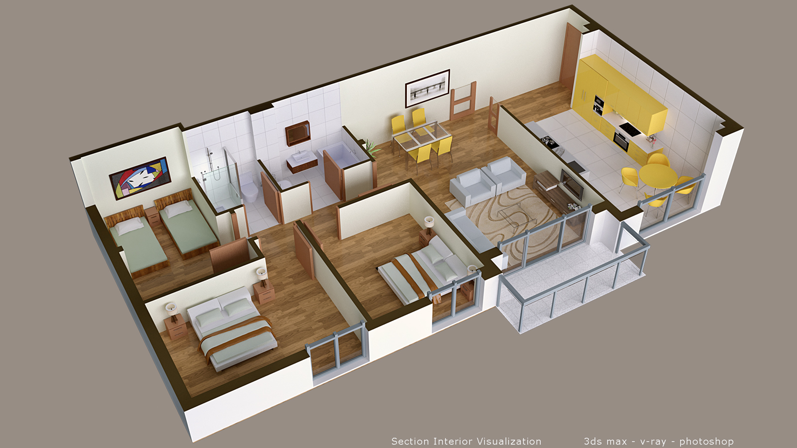 3d floor plan seasonart for How to design 3d house plans