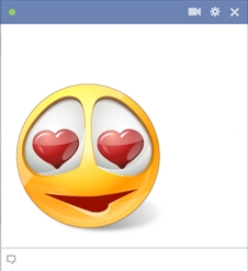 Facebook smiley with heart symbols