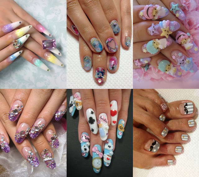 selection of japanese nail art
