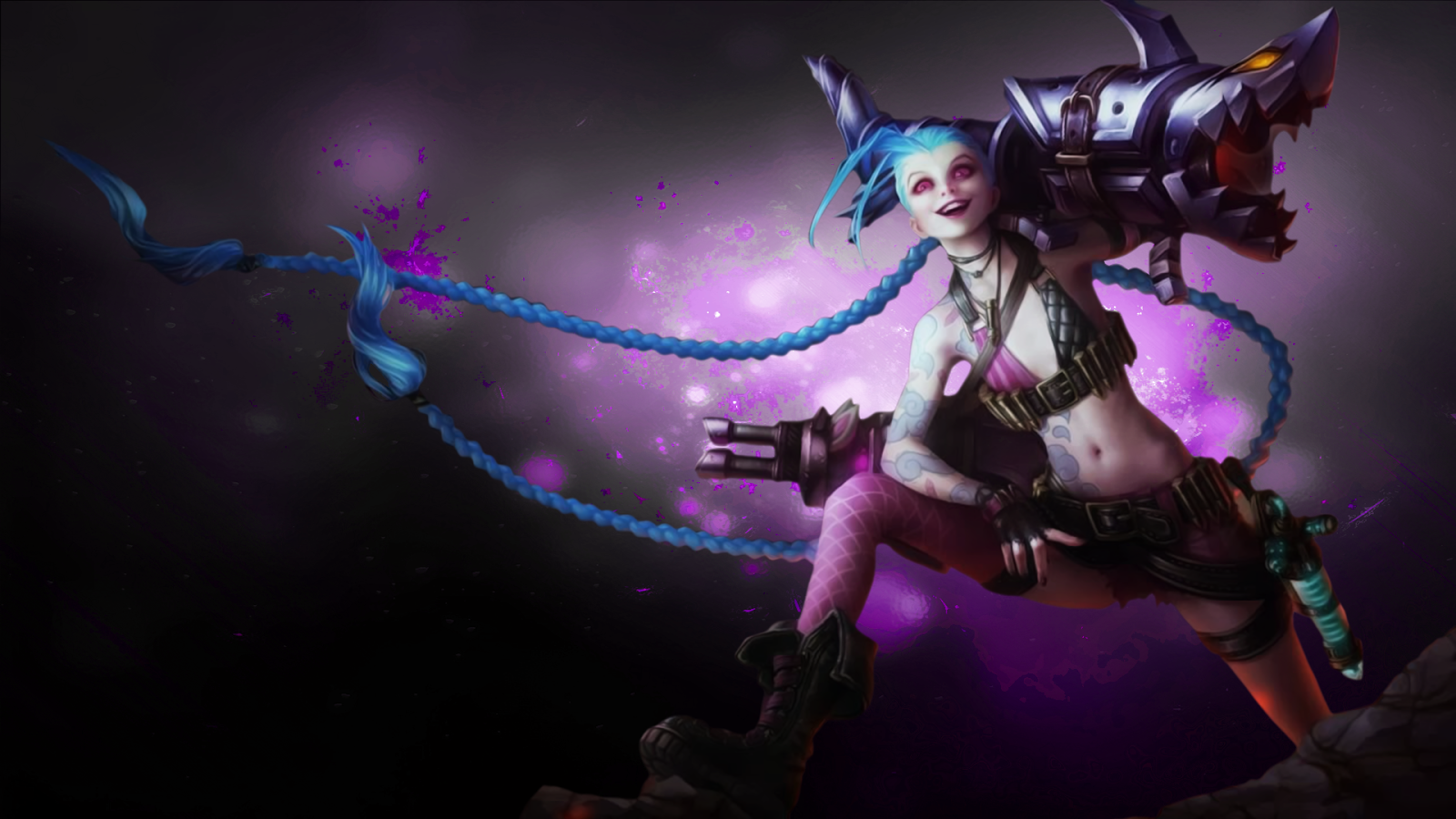 Jinx Wallpaper Hd Jinx Desktop Backgrounds Jinx LOL Champion Wallpapers Free Download