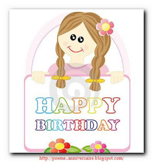 Joyeux anniversaire ma soeur