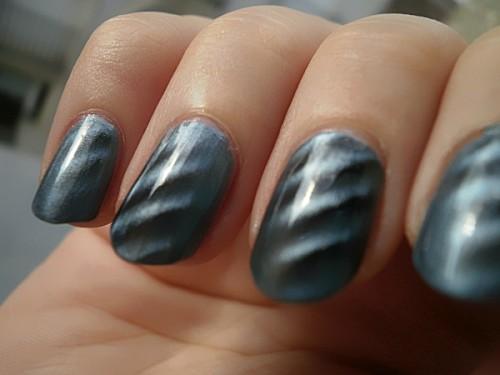 vernis magnétique, gris, argenté