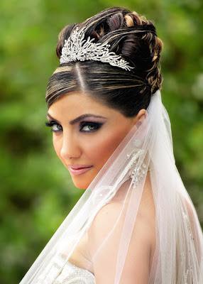 hair styles for weddings for long hiar with veil half up
