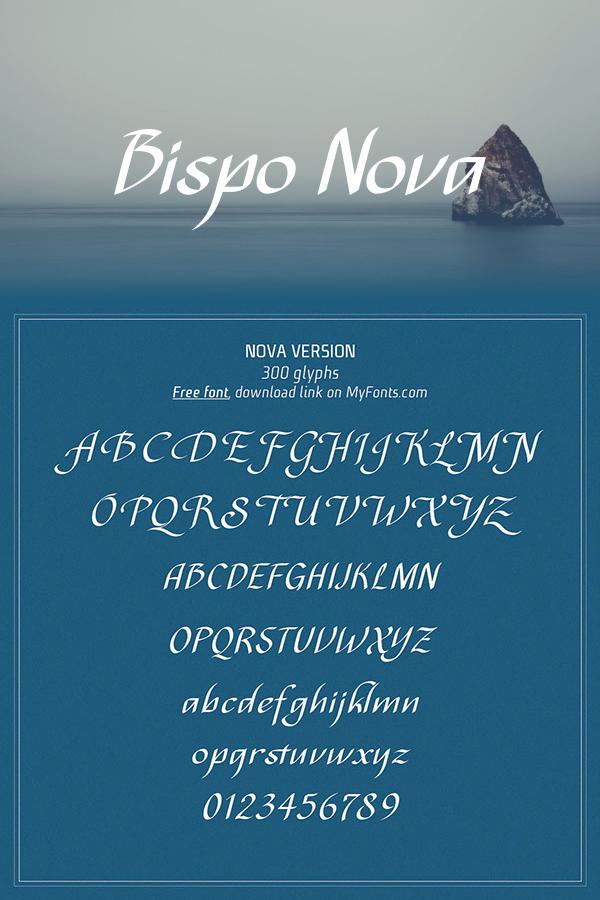 Download Font Handletter Tulisan Tangan Terbaik - Bispo Nova