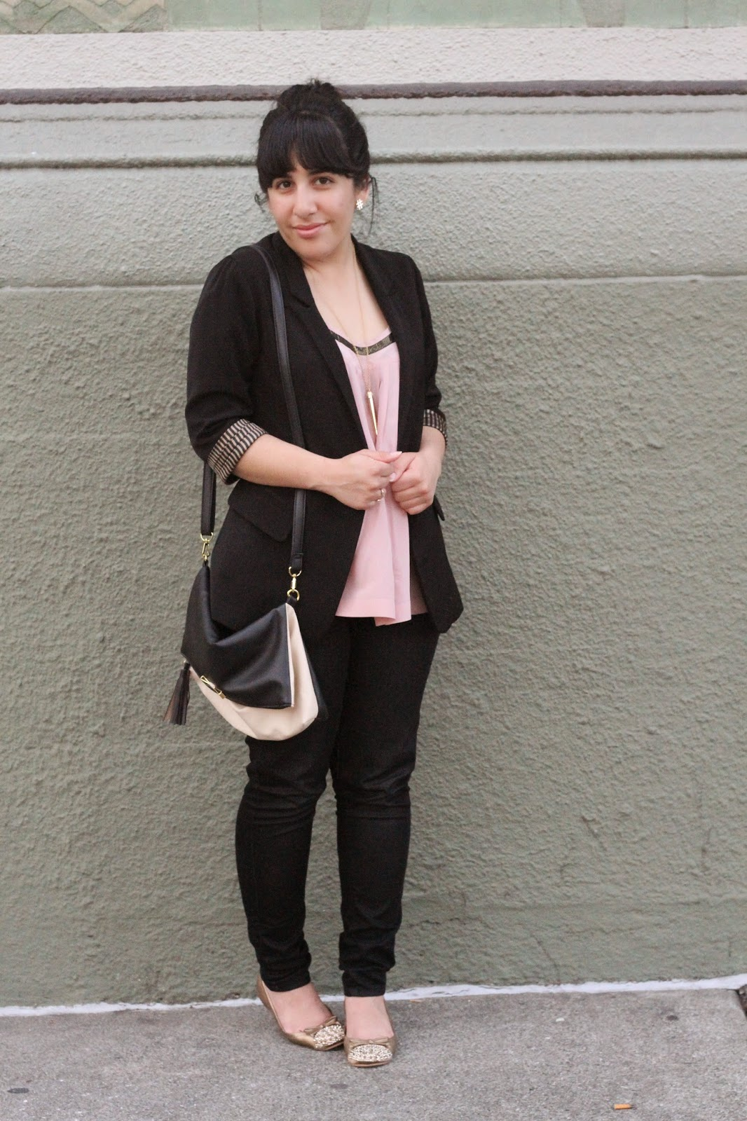 Black and Pink Work Outfit