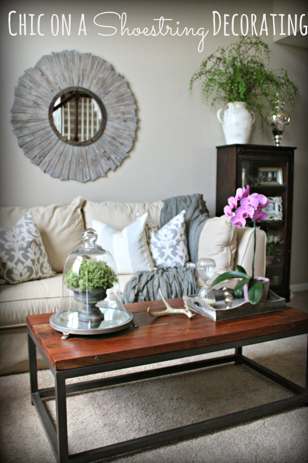 Chic on a shoestring decorating living room makeover on a for Living room makeover