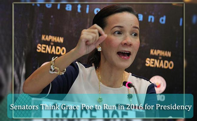 Senators Think Grace Poe to Run in 2016 for Presidency