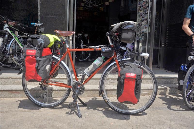 La Thaïlande à vélo: photo de vélo tout équipé