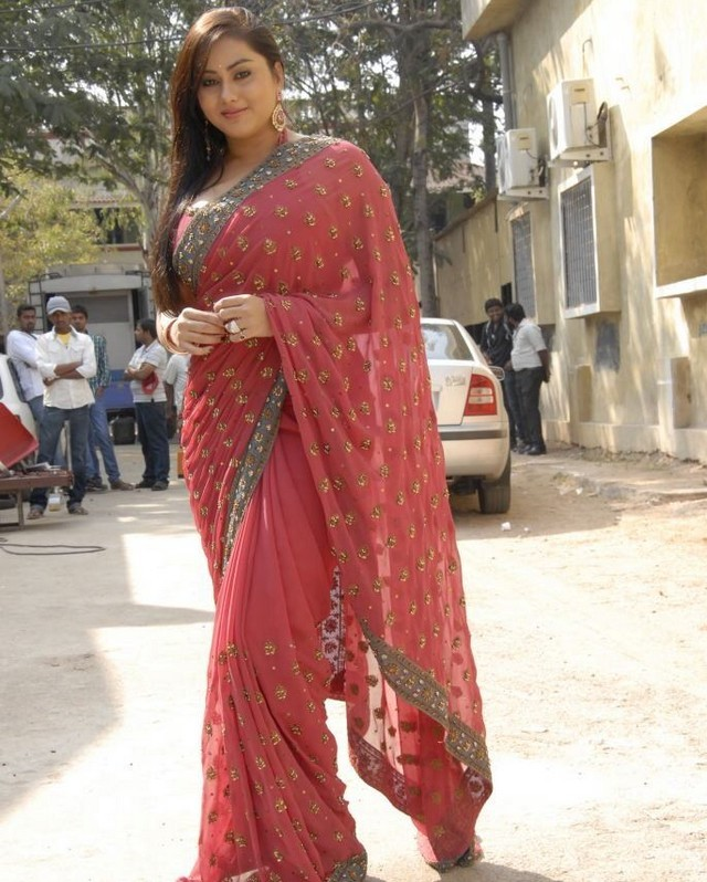Actress Namitha Stills in Saree  show