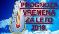 Dugoročna prognoza vremena MAJ - SEPTEMBAR 2018.