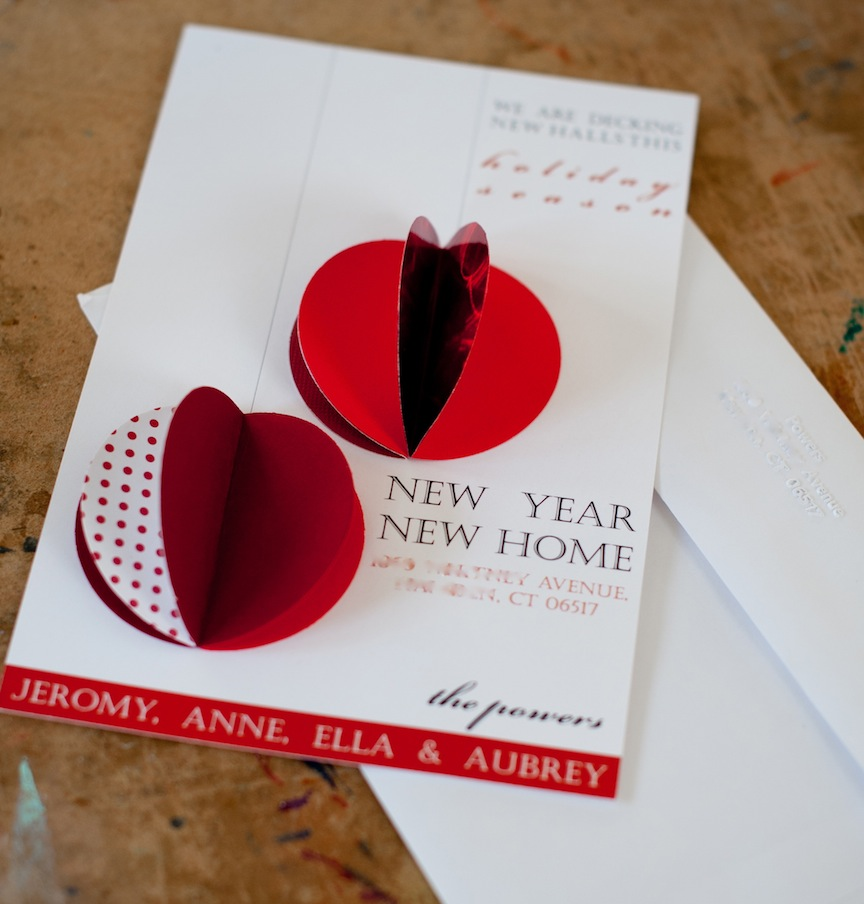 a. party style: xmas in july :: new home christmas card