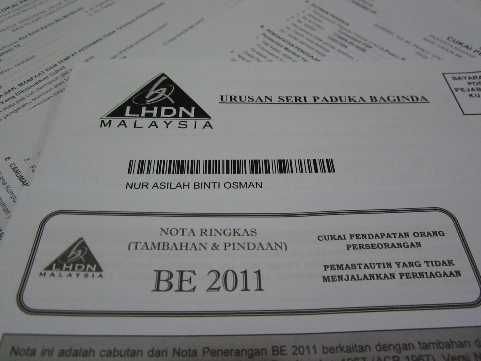 E-FILING LHDN Borang Be