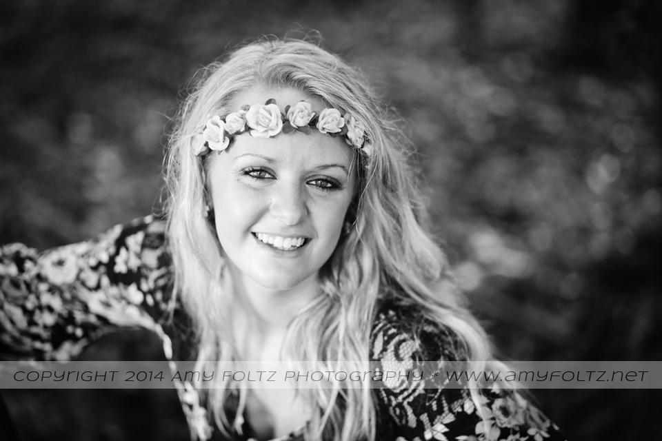 senior photos at Fowler Park in Terre Haute