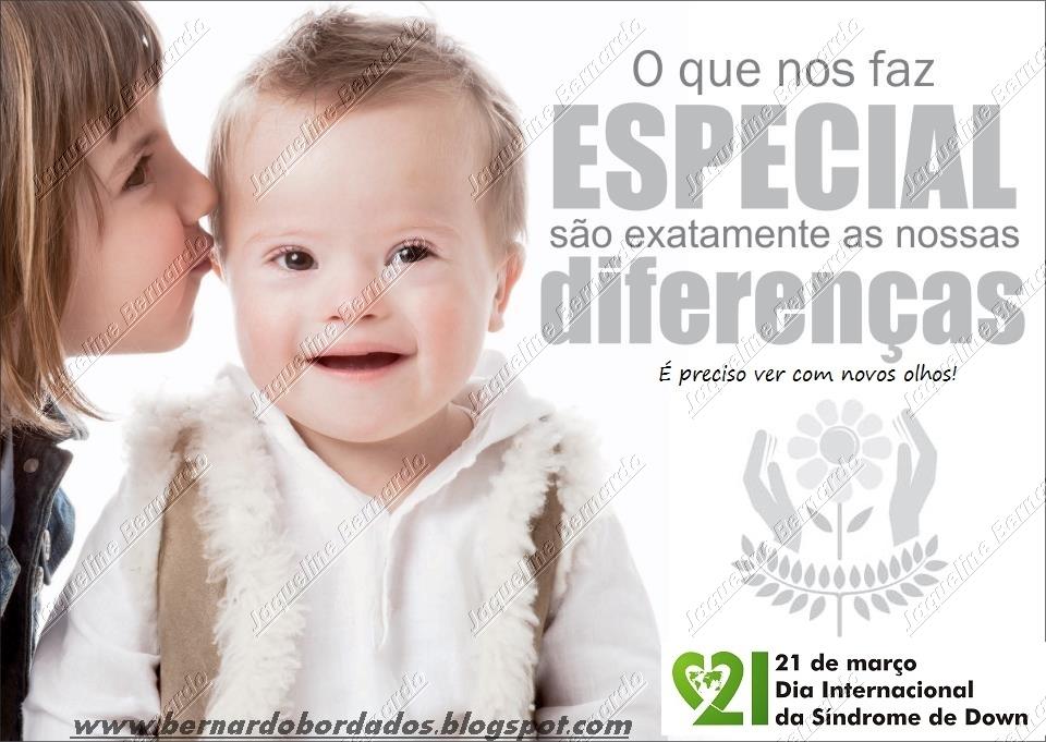 Bernardo Bordados Ponto Cruz E Afins 21 Março Sindrome De Down