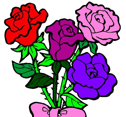 Imagens Flores Coloridas Para Imprimir OrkuGifs - Fotos De Flores Coloridas Para Imprimir