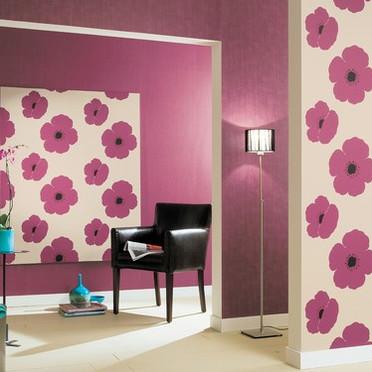 decorar la pared con un mural papel pintado casas decoracion