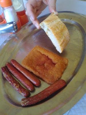 Imagen del triste menú de un colegio de primaria en Burgos
