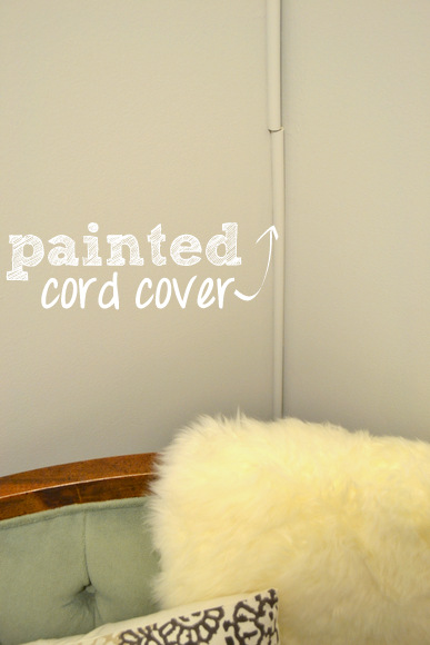 I painted my covers to blend even more into the wall