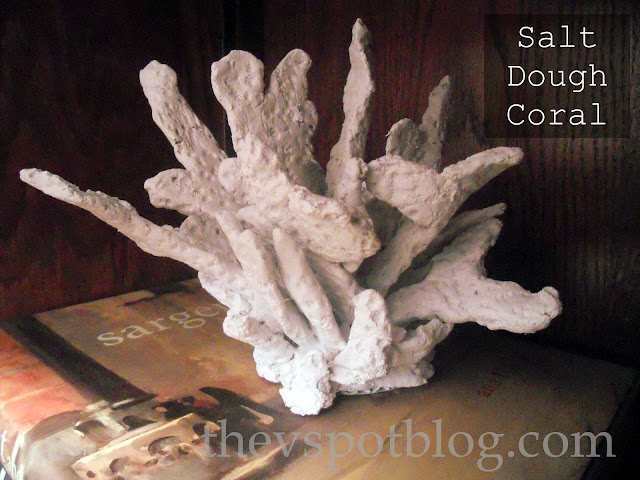 Fake coral made from salt dough.