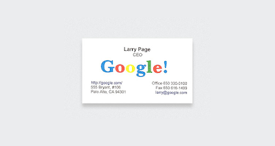Business Cards of 10 Famous People Seen On www.coolpicturegallery.us