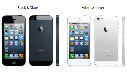 iPhone 5 will roll out worldwide to 22 more countries on September 28    Iphone 5s White Vs Black