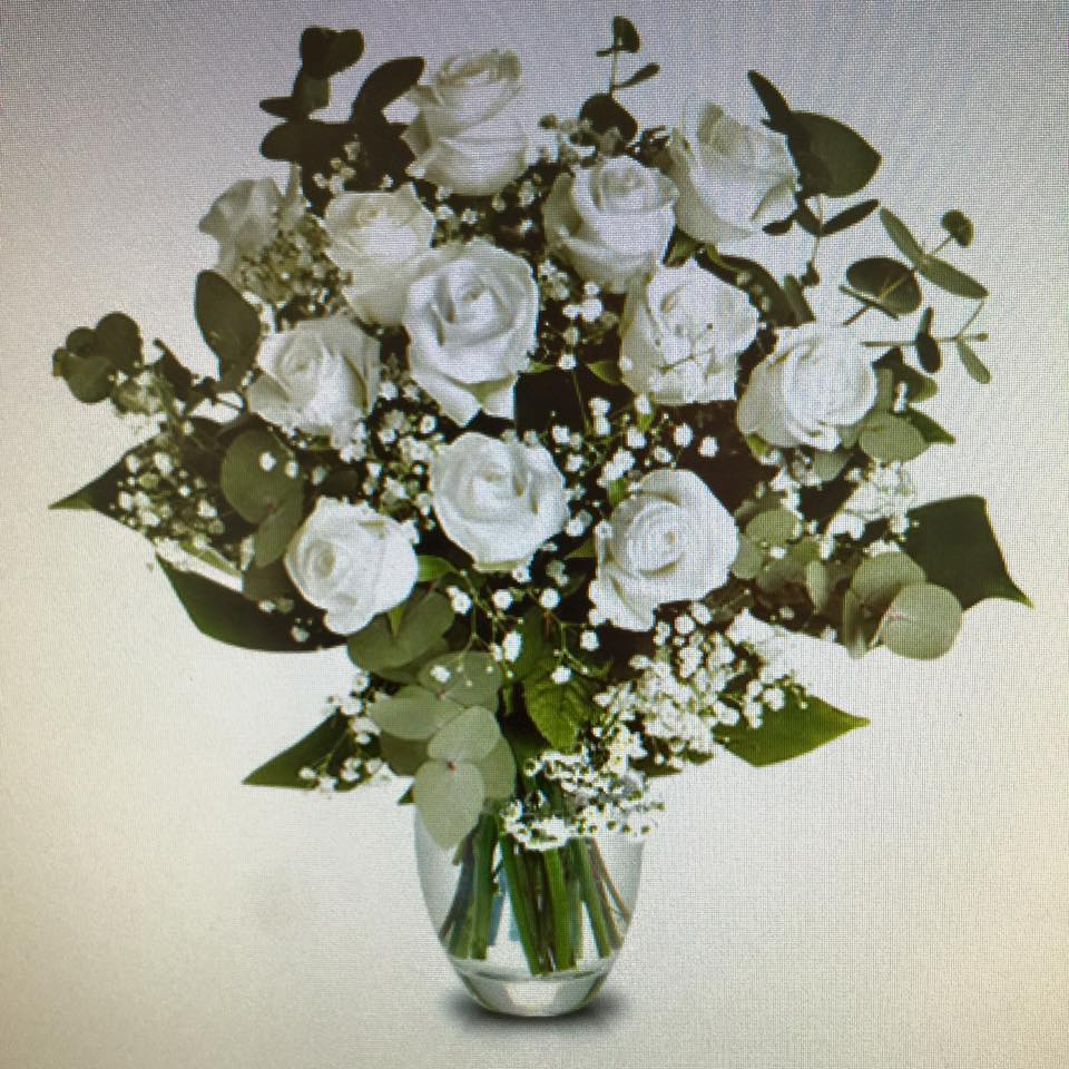 Maries Blog 12 White Roses For