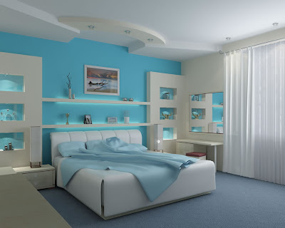 Modern romantic bedroom interior design and decoration