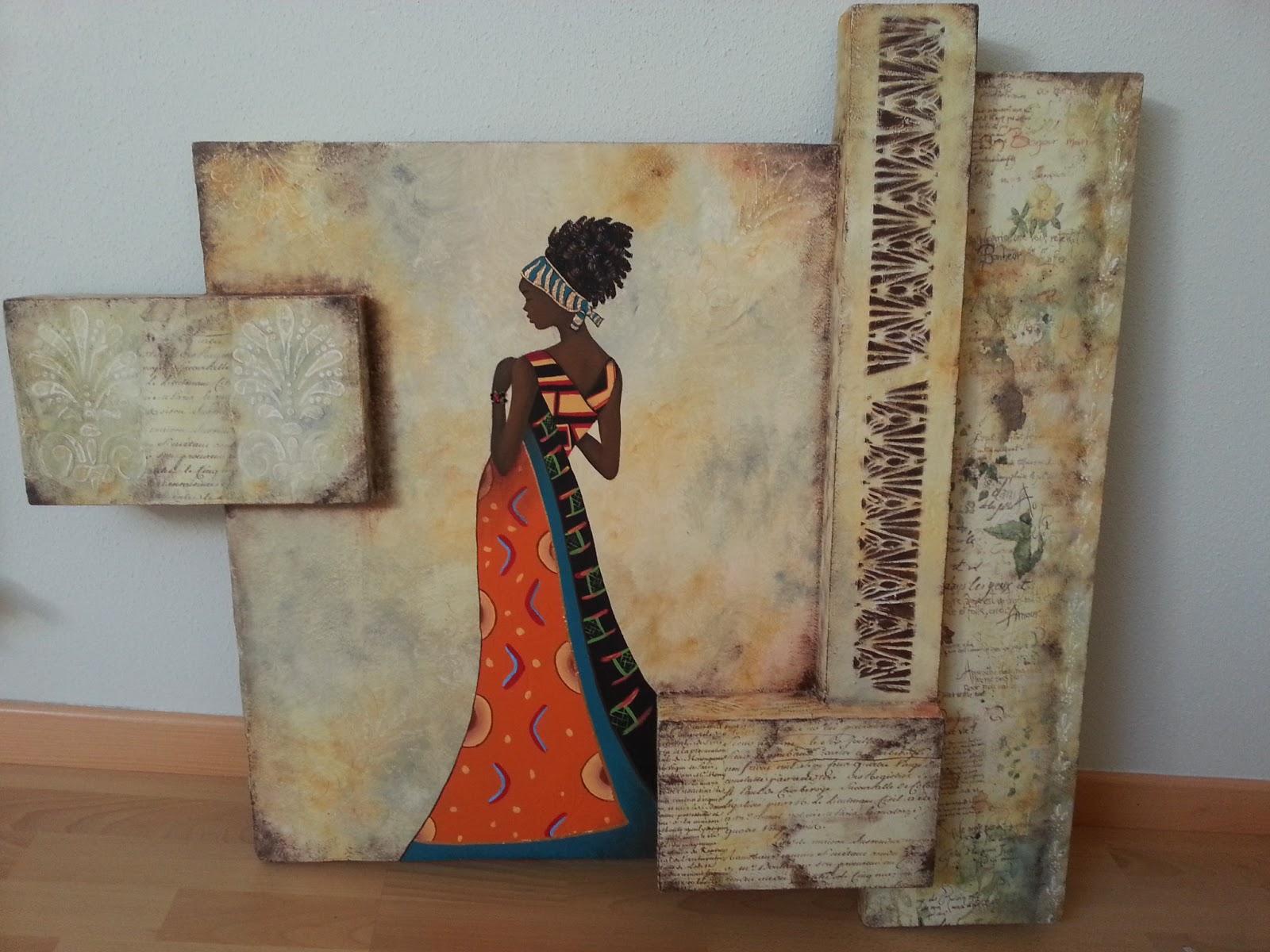 El rincon de alyssa cuadros africanas - Manualidades faciles cuadros ...