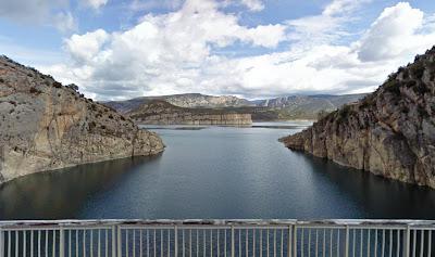Embalse de Canelles desde la presa