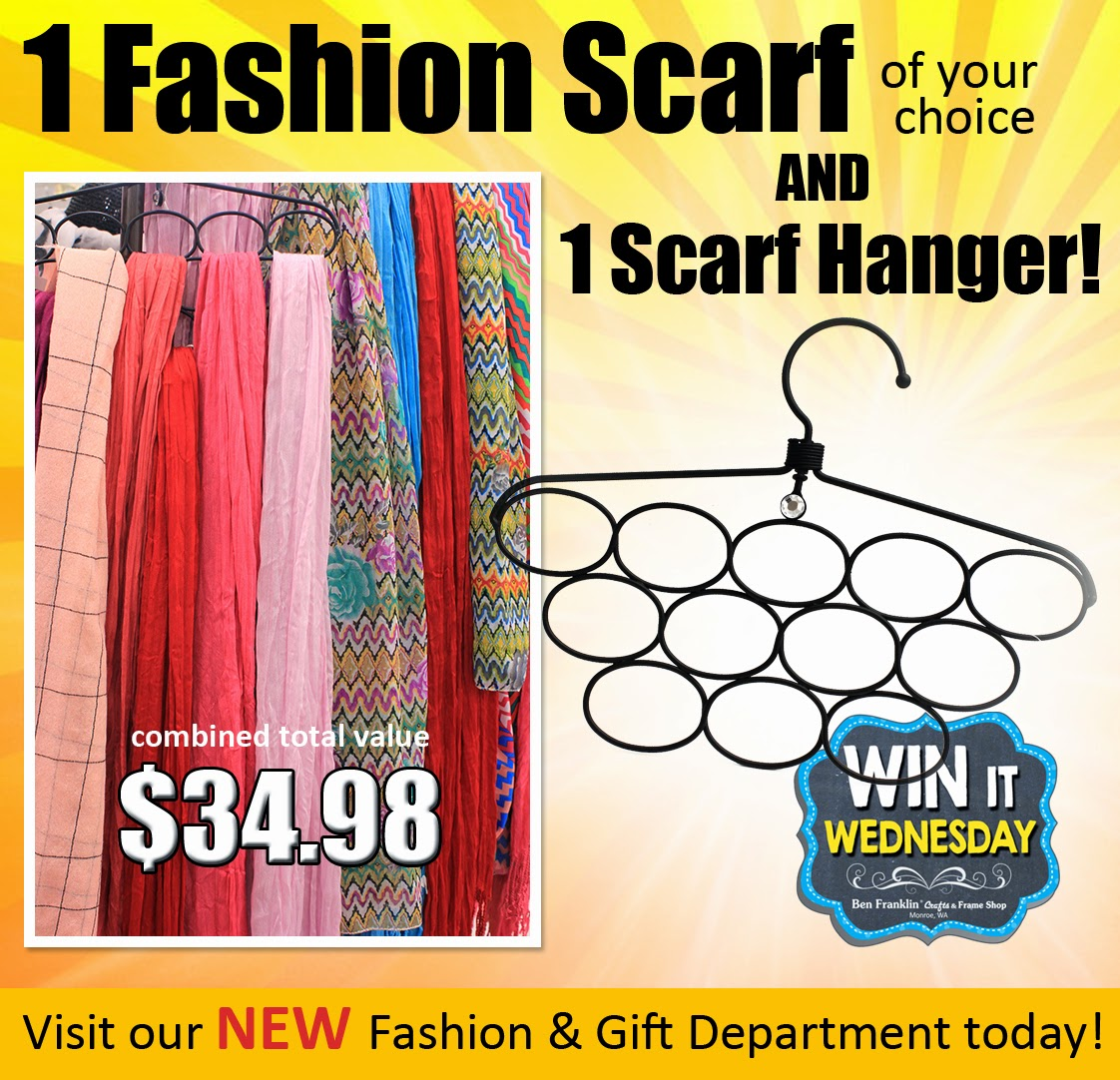 Win It Wednesday Prize: Fashion Scarf and Hanger