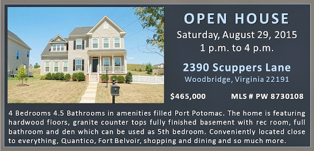Open House 2390 Scuppers Lane Woodbridge Port Potomac Claudia S Nelson August 29