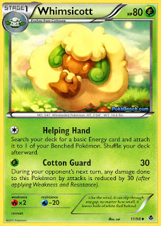 Whimsicott Emerging Powers Pokemon Card