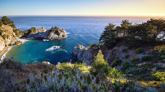 California us bay ocean nature rocks HD Wallpaper