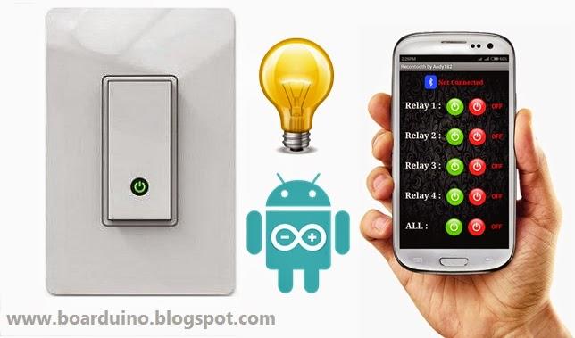 Menyalakan lampu dengan android dan arduino boarduino