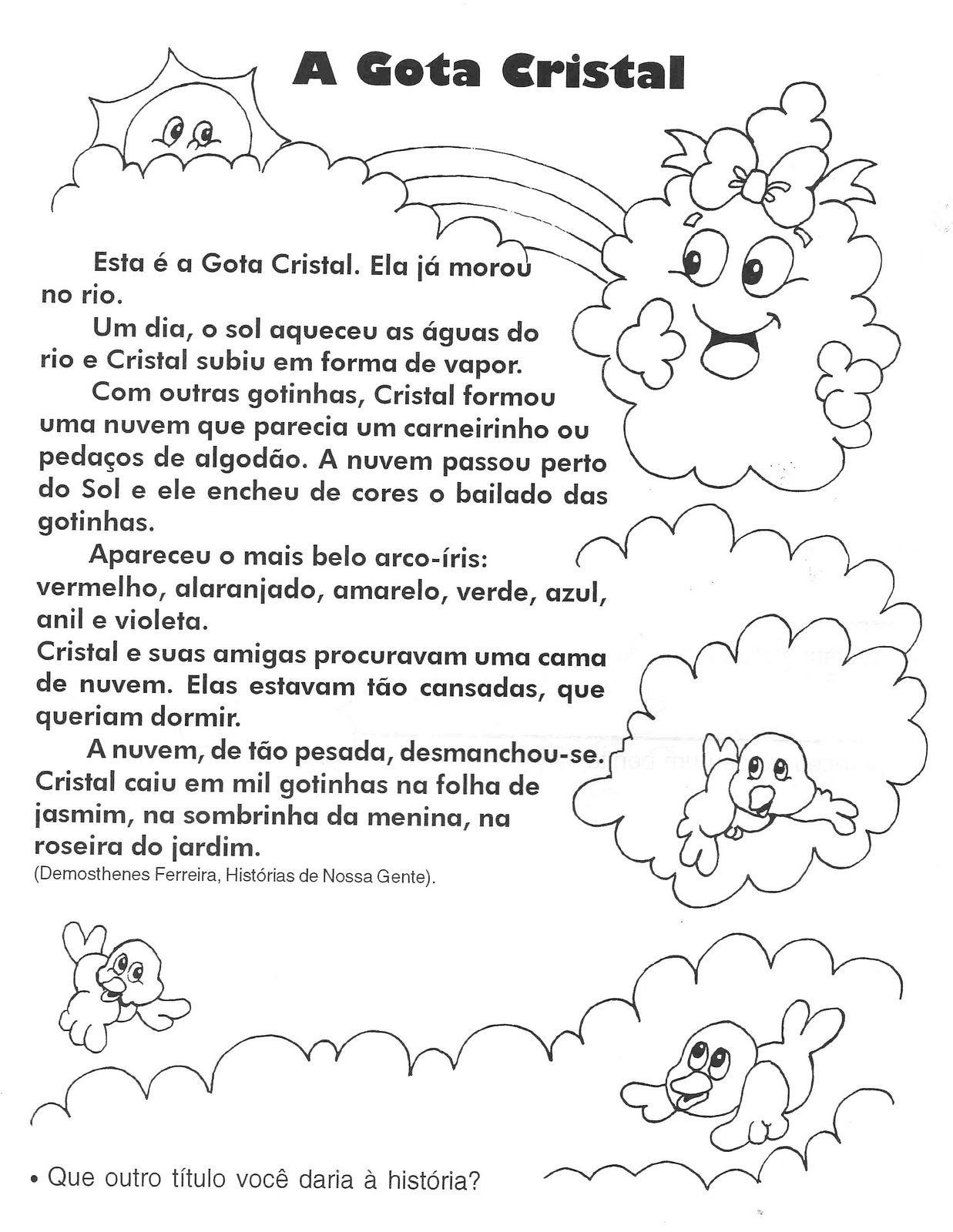 a desenhar Textos infantis colorir