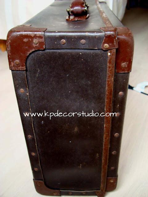 Decorar con maletas antiguas. Comprar maleta vintage años 30