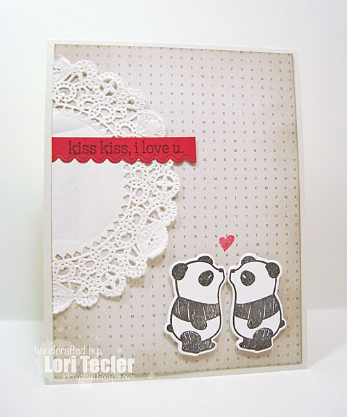Kiss Kiss card-designed by Lori Tecler/Inking Aloud-stamps from Mama Elephant