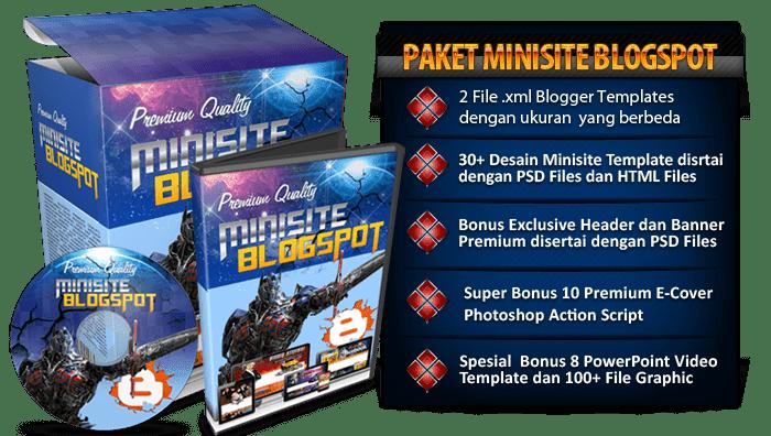 paket minisite blogspot
