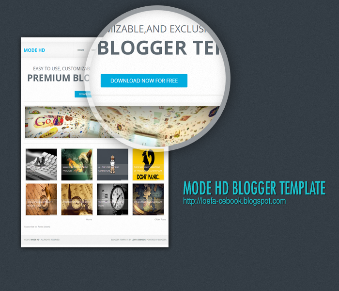 Free minimal clean Blogger Template