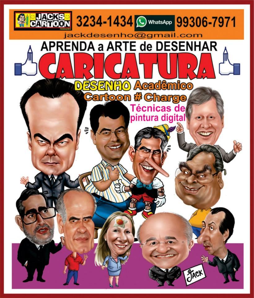APRENDA A DESENHAR CARTOONS, CARICATURAS,     MANGÁ E DESENHOS ARTISTICOS com o Mestre JACK CARTOON