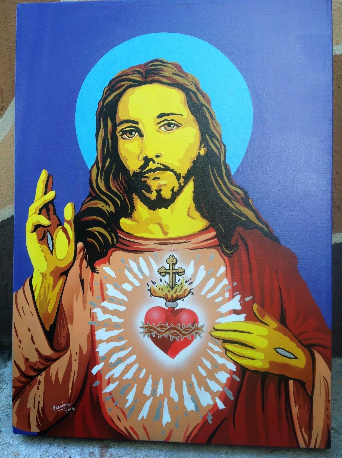 CUADRO RELIGIOSO EN ARTE POP
