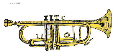 642 Things to Draw - Trumpet - Pen and Ink and Digital Colour - Ana Tirolese © 2012