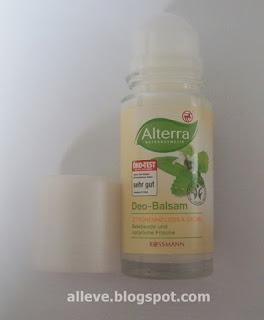 Alterra dezodorant w kulce z balsamem, MELISA LEKARSKA I SZAŁWIA