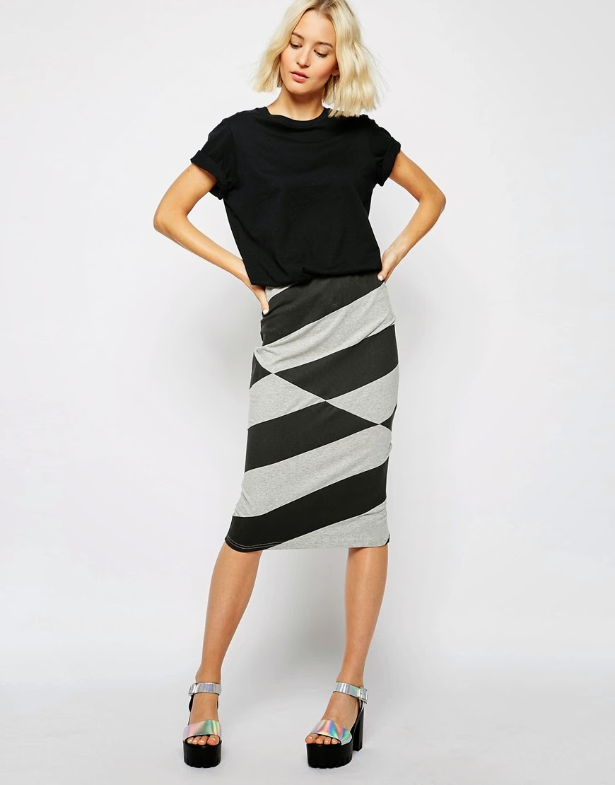 chevron midi skirt, cheap monday midi skirt,