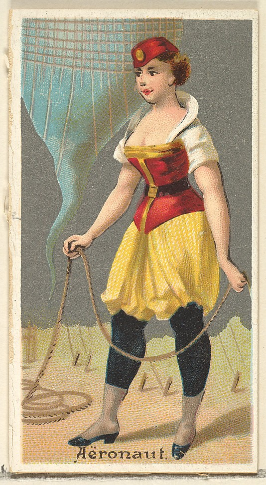 "Aeronaut. Vintage tobacco card ""Occupations For Women"", via ellomennopee"