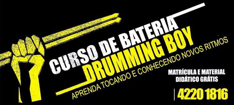 Curso de Bateria Drumming Boy