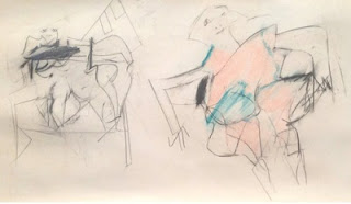 Image: Untitled (Two Women), ca. 1955, by Willem de Kooning